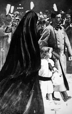 Charles IV and Empress Zita with Otto von Habsburg during the funeral of Franz…