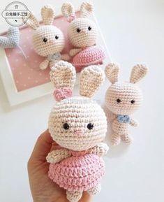15 Super Ideas For Crochet Baby Amigurumi Easter Bunny Bunny Crochet, Kawaii Crochet, Easter Crochet, Crochet Animals, Crochet Dolls, Free Crochet, Knit Crochet, Baby Patterns, Crochet Patterns