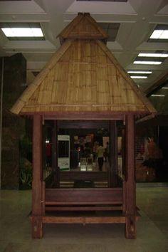 Gazebo Kayu Kelapa Atap Bambu