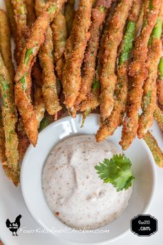 Fried Asparagus Recipe - Four Kids and a Chicken