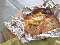 Grilled Lemon and Herb Salmon Packets! Delicious! (you could also do these in the oven if you don't have a grill]