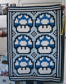 Mario Mushroom Quilt - I want to make it with all the different kinds of mario mushrooms
