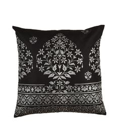 bidri pillow Raven Wings, Linens And Lace, Surface Pattern Design, Soft Furnishings, Home Interior Design, Antique Silver, Cushions, Textiles, Throw Pillows