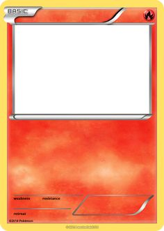 Blank Fire Pokemon Cards images