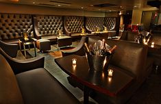 Nightclub design like the high seats to fill a wall