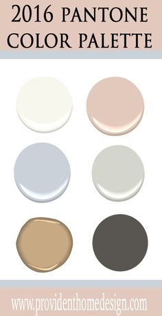 Perfect paint colors to go with Pantone's 2016 paint colors of the year. Come find out at Provident Home Design.