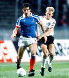 Eric Cantona of France vs Germany