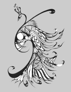 Peacock tattoo, add color please