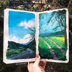 59 Vibrant Illustrations Inspired By Nature By Australian Artist - Gouache Painting Painting & Drawing, Watercolor Paintings, Artist Painting, Painting Illustrations, Nature Illustrations, Watercolor Art Lessons, Watercolor Trees, Watercolor Landscape, Spray Painting