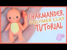 Kawaii Charmander Pokémon Charm polymer clay tutorial