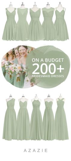 Dusty Sage Bridesmaid Dresses & Dusty Sage Gowns Dress your bridesmaid in this romantic soft green! Available in sizes and free custom sizing! Every woman deserves their dream dress, that fits right while still being budget friendly! Sage Bridesmaid Dresses, Affordable Bridesmaid Dresses, Wedding Bridesmaids, Wedding Dresses, Sage Dresses, Bridesmaid Outfit, Party Dresses, Sage Green Dress, Sage Color Dress