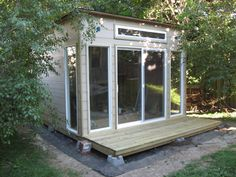 12 x 12 tiny house - outdoor office - based on Edgar Blazona's MD100 modular dwelling plans featured in Readymade magazine