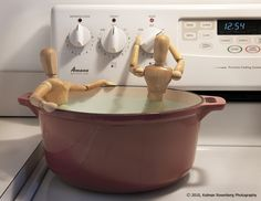 Amazing art! Plus hot tub humor! Picture this on your stove when company is over!