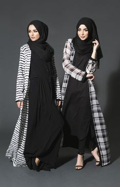 7 modern and stylish kimono outfits with hijab for women (9)