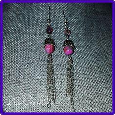 Crazy Agate & Chain earrings