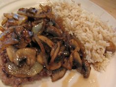 Rita's Recipes: Cube Steak with Sauteed Mushrooms and Onions
