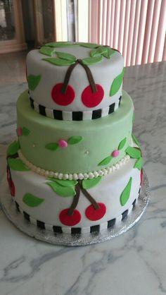 Cherry birthday cake
