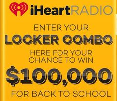 Iheart Enter your Locker Combo Contest is a completely free competition where any US candidates can participate. Participate with enter combo code and win, Free Competitions, Photo Contest, Lockers, Back To School, Pageant Photography, Photography Challenge, First Day Of School, Closets, Entering School