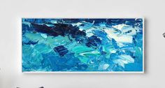 Extra Large Wall Art Ocean Painting Sea Painting Abstract Art Room Decor Waves Painting Water Wall Art Ocean Waves Decor Office Art Modern by KikArtPaintings on Etsy https://www.etsy.com/listing/461861944/extra-large-wall-art-ocean-painting-sea