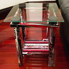 Hockey Stick End Table by HockeyStickBuilds on Etsy