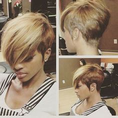 The pixie cut is the new trendy haircut! Put on the front of the stage thanks to Pixie Geldof (hence the name of this cup!), Many are now women who wear this short haircut. Pixie Hairstyles, Black Women Hairstyles, Cute Hairstyles, Hairstyles 2018, Short Haircuts, Hairstyles Pictures, Summer Hairstyles, Braided Hairstyles, 27 Piece Hairstyles