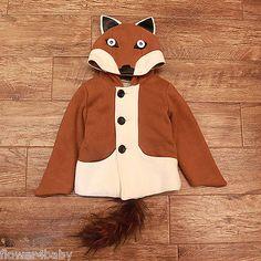 Boys Girls Winter Coat Fox Lion Cartoon Coat Age 18M - 5years