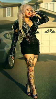 Goth girl rocker chic