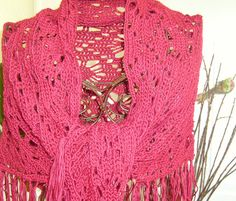 A shawl to treasure  crocheted in the spider by stitchwhimsymarket