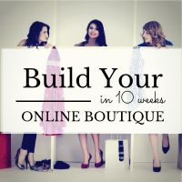 Create Start your online boutique
