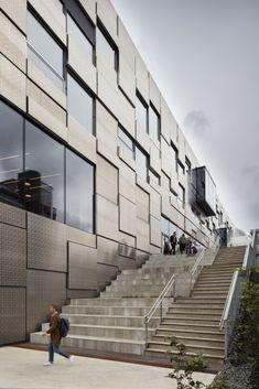 Snøhetta's Norwegian campus building features seawater-durable aluminum panels - Archpaper.com