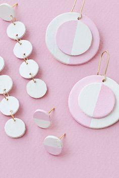 DIY wooden circle earrings —2 ways