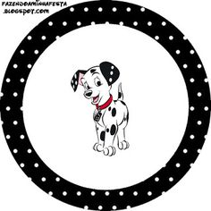 101 Dalmatians in Black and Blue: Free Printable Cupcake Toppers and Wrappers.  Hecho. Hecho