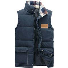 New Style Autumn Winter Men Vest Stand Collar Solid Casual Men's Vest Candy Color Waistcoat Men 664deb5a-87d9-4206-97c0-95bf7974e606 Vests & Waistcoats