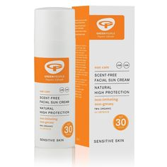 Facial sunscreen made with non-comedogenic, natural & organic ingredients. Scent free face cream with ideal for those prone to sensitive skin. Organic Facial, Natural Facial, Natural Beauty, Crema Solar, Facial Sunscreen, Sun Lotion, Spa, Organic Aloe Vera, Sun Care