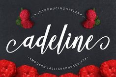 Introducing Adeline Font Adeline is a calligraphy script font with varied base lines, designed to convey elegance and style. It's smooth, clean and feminine. Handwritten Fonts, Calligraphy Fonts, Script Fonts, All Fonts, Fancy Fonts, Typeface Font, Modern Calligraphy, Book Wedding Invitations, Wedding Fonts
