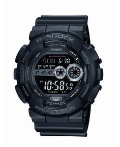 G-Shock Watch, Men's XL Digital Black Resin Strap