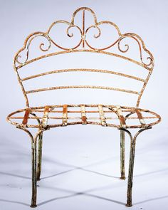 Wrought Iron Kidney  Bench