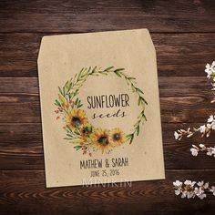 16 Unique Wedding Favor Ideas Seed packets Favors and Weddings