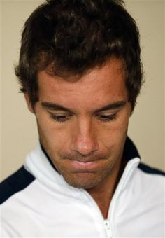 Frances tennis player Richard Gasquet leaves the draw ceremony for the upcoming Davis Cup tennis tournament between Argentina and France in Buenos Aires, Argentina, Thursday, April 4, 2013. Gasquet was replaced by Gilles Simon. Argentina will face France in the Davis Cup World Group quarterfinals April 5-7. (AP Photo/Victor R. Caivano) Next