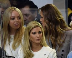 Tiffany chatted with her sister-in-law in the seats behind Ivanka...