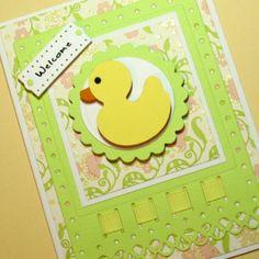 Baby boy card handmade greeting card handstamped baby card baby boy card baby girl card baby shower card handmade greeting card can be personalized m4hsunfo