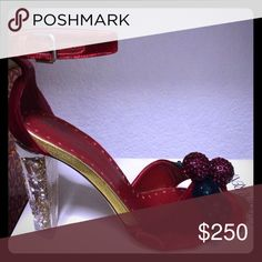 ISO Yves saint laurent Tom ford cherry velvet heel 39.5 in search of t ford yves saint laurent velvet rockabilly cherry heels Yves Saint Laurent Accessories