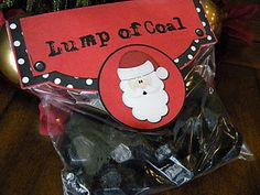 Lump of Coal Treat Bag Topper