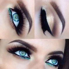 smokey eye with a splash of color