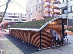 """Ibyr on Twitter: """"Nytt cykelställ med #grönt tak! Låt oss se fler sådana. :)…"""