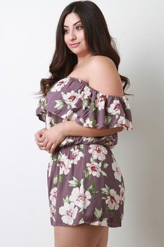 f016ab2e84ce Flutter Bardot Floral Romper. Purposed By Design (Honey Skies)