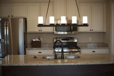 This photo is in the kitchen of a Steiner Homes Ranch Plan, the Larson. This home is located in Saint John, IN.