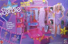 Super Star Barbie Movietime Prop Shop Playset w Over 25 Pieces 1988 Hawthorne