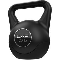 This black 20-lb kettlebell is wonderful for lifts, squats, throws, clean and jerks, snatches, rotational swings and more. It will help you target major muscle groups in your upper body, including biceps, triceps, chest and back. This kettlebell is also an ideal choice to exercise your lower frame, such as the thighs and calves.