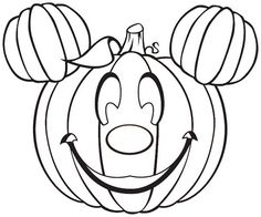 Disney Halloween.. Could carve for Liam's Fall Mickey 1st bday party